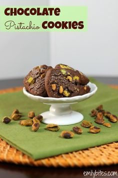 Emily Bites - Weight Watchers Friendly Recipes: Chocolate Pistachio Cookies