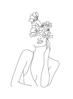 Doodle art 621144973594337537 - Bloom My Friend . Myrtle et Olive Quotes Line Art Tattoos, Tattoo Drawings, Tattoo Sketches, Tattoo Outline Drawing, Outline Art, Outline Drawings, Pencil Drawings, Doodle Art, Minimal Art