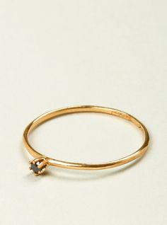 Black Diamond & 18k Gold Ring by Satomi Kawakita