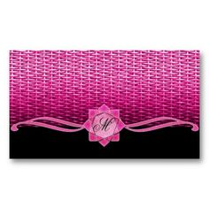 Rosette and Weave Pink Business Card Templates
