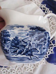 Liberty Blue Staffordshire Creamer - Paul Revere