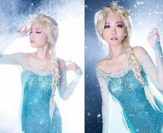 Peruca Alta Qualidade das Personagens Elsa e Anna em 2 Tamanhos (Venda Unitária / Preços Diferentes Adulto ou Infantil)