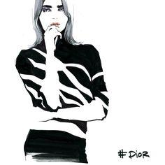 Illustrative report from Paris FW for Vogue.ru