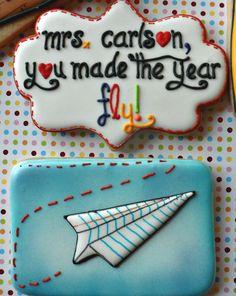 paper airplane cookies; sweet tweets