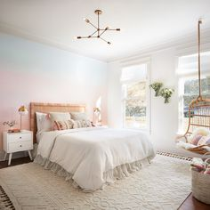 Loved designing this bright and happy room for such a sweet little girl #fixerupper #magnoliadesignandconstruction