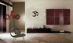 Small OM Symbol Wall Decal Sticker Buddha Absolute Brahman Hindu Yoga