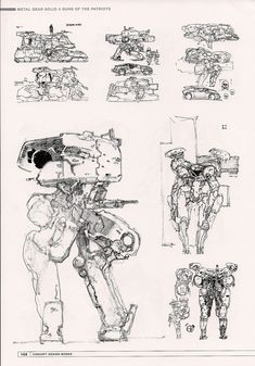 GECKO concept sketches for MGS4
