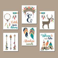 Sticker TRIBAL de pépinière les toiles et les par TRMdesign sur Etsy