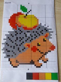 ёжик с яблоком