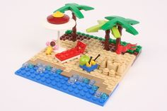 Mr Snail LEGO instructions -- plus a cool beach vignette