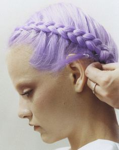 Pastel Hair Color | lavender braid LET US INSPIRE YOU WITH OUR HUGE COLLECTIONS OF HAIRSTYLES, VISIT WWW.UKHAIRDRESSERS.COM