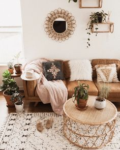 Timber Charme Tan Sofa - Home Professional Decoration Boho Living Room, Living Room Interior, Bohemian Living, Bohemian Homes, Cozy Living, Modern Bohemian, Living Room Ideas Tan Sofa, Bohemian Design, Apartment Interior