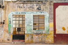 fourcolortvtravel:  A door and a Window 2, Color of Mexico. by sukchookim From the Colors of Mexico Series