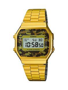 Casio A168WEGC-5EF gold / camouflage (brown) / brown size Uni