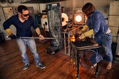 Amanda Notarianni and Charlie Macpherson, glass artists at Notarianni Glass in Poundbury in Dorset See more of The Artisans series as we showcase craftspeople in their workplaces Artists, Glass, Hot, Pictures, Photos, Drinkware, Artist, Corning Glass, Photo Illustration