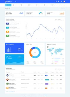 Buy MatPress - Materialize Admin Template by MARUTI on ThemeForest. MaterialPress admin is based on Materialize Css framework, its powerful and easy to customize admin template. Web Design, Material Design Web, Google Material Design, Page Design, Dashboard Template, Dashboard Design, Design Thinking, Motion Design, Dashboard Interface