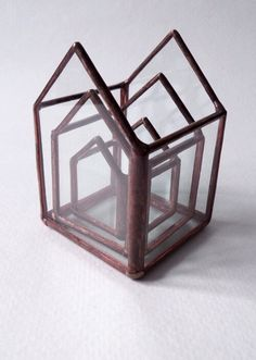 Set of Stacking Stained Glass Mini Boxes by SarahBrueckWilliams