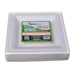 Square Compostable-Biodegradable Plates For Weddings, Eco Friendly Sugarcane Plate - Square Plates - Plates & Bowls Square Plates, Plates And Bowls, Compost, Biodegradable Products, Eco Friendly, Weddings, Diy Compost Bin, Composters, Wedding