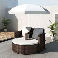 telaio in alluminio Premium Lounge-Set Marrone LUSSO Poly-Rattan-Set da Barcellona