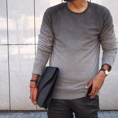 Faded grey sweater