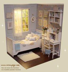 OOAK-1-6-Blythe-Pullip-Doll-CLOUDY-MORNING-Bedroom-Diorama-by-Nerea-Pozo-Keera