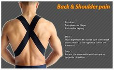 Kinesiology taping instructions for back and shoulder pain #ktape #back…