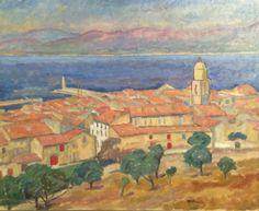 Pankiewicz. View od Saint Tropez  National Museum in Warsaw