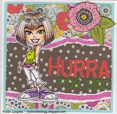 Kristins lille blogg: Fargerikt bursdagskort