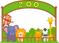 Unique Wonderful clip art of animals that live in a zoo