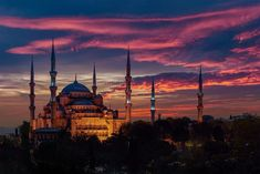 ITAP of the Blue Mosque on sunset
