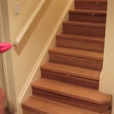 32 Nice Understairs Storage Design Ideas - When home owners think about updating their stairs and hallway, they tend to focus only on tasks such as replacing the stair balustrade, handrails, sp. Stair Drawers, Stair Storage, Sliding Shelves, Under Stairs Cupboard, Wooden Staircases, Storage Design, Cool Inventions, Extra Storage, Adjustable Shelving