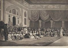 A representation of the delivery of the Ratified Treaty of 1790 by Sir Chas. Warre Malet Bt. to Madarow Narrain Peshwa in full Durbar as held upon that occasion at Pune in the East Indies on the 6th August 1790