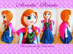 Fozen Inspiration!! Anna Pinata! Hi everyone, :) Like us! :) You'll be getting awesome content and updates from our exciting projects ! https://www.facebook.com/valentina.pinatas.kunst http://de.dawanda.com/shop/valentinaPinatas