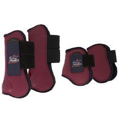 Maroon tendon boots