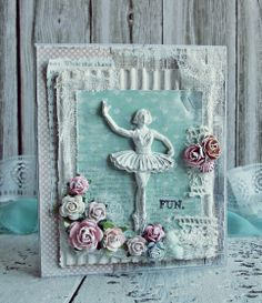 Ballerina - Scrapbook.com a collection of cards with great ideas for adding height and texture