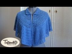 "Capa Poncho a CROCHET Ganchillo ""Maricita"" (1) por Maricita Colours Tutorial Gratis - YouTube"