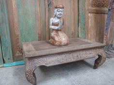Balinese Furniture Wood Low Opium Coffee Table Hand Carved Timor Finish 100cmx60