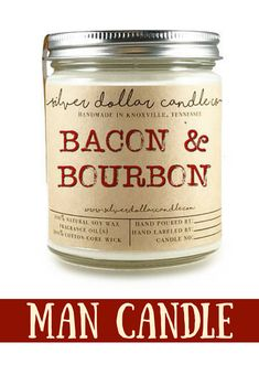 Bacon & Bourbon Candle - Boyfriend Gift, Man Candle, Mens Valentines Day Gifts, Valentines Gifts for him, Man Candles, Gifts for him, love #affiliate