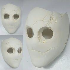 Jitters Blank cast by burgerstrings on DeviantArt Creepy Masks, Cool Masks, Villain Mask, Blank Mask, Halloween Makeup Witch, Character Art, Character Design, Diy Masque, Masks Art