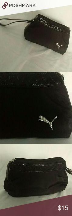 Black Puma wristlet bag. Black authentic Puma wristlet purse. Zipper closure.  Great condition 511efbbf8d6fd