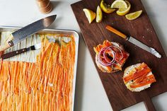 What Looks Like Lox & Tastes Like Lox But is Made of Carrots? - food 52 (www.ChefBrandy.com)