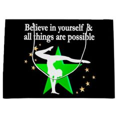 ALL THINGS ARE POSSIBLE GYMNASTICS DESIGN LARGE GIFT BAG Celebrate you Gymnast's special day with one of our beautiful Gymnastics gift bags. http://www.zazzle.com/collections/gymnastics_gift_bags-119683714112133602?rf=238246180177746410 Gymnastics #Gymnast #WomensGymnastics #Gymnastgiftbag #Gymnasticsgiftbag