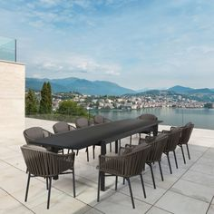 Grande Extendable Outdoor Dining Table. The Grande table has an innovative extension piece which is cleverly hidden under the table and can be pulled out effortlessly when needed. It extends the table from 2.2m to 3.3m giving you an additional 4 seats.