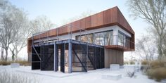 Projekt domu House x07 - DomPP.pl projekty domów Modern Architecture, Garage Doors, Shed, Exterior, Outdoor Structures, House Design, Outdoor Decor, Home Decor, Lean To Shed