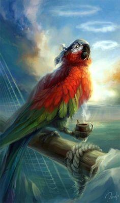 A parrot's life fer me!