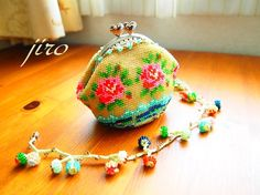 ビーズ編みがま口-summer rose2014.8                                                                                                                                                      もっと見る