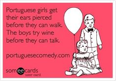 Portuguese Ecard - actually I did both before walking (the wine was an accident xD) - Portuguese Girl