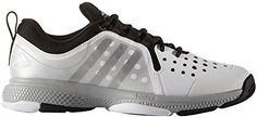 adidas Performance Men's Barricade Classic Bounce M Wid Tennis Shoes,White/Metallic Silver/Black,8.5 M US *** To view further for this item, visit the image link.