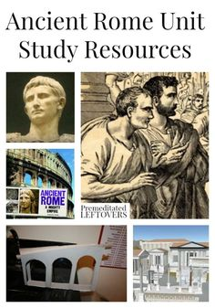 Ancient Rome Unit Study Resources including crafts,Rome printables, books about ancient Rome, ancient Rome videos and more ancient Rome lesson plans.