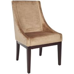 Safavieh En Vogue Dining Dark Champagne Sloping Arm Velvet Chair | Overstock.com Shopping - The Best Deals on Dining Chairs